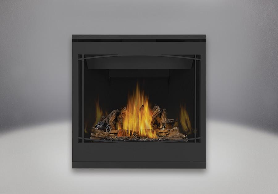 PHAZER<sup>®</sup> Log Set, MIRRO-FLAME<sup>™</sup> Porcelain Reflective Radiant Panels, Zen Front