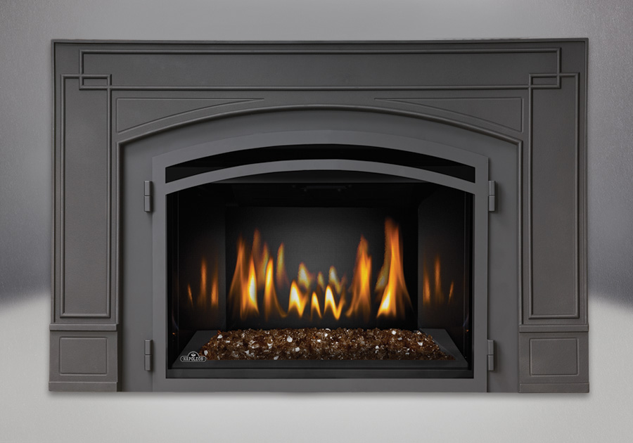 The Napoleon Infrared 3G Gas Fireplace Insert is the perfect solution for an economical heating source with the modern elegance of a CRYSTALINE ember bed.