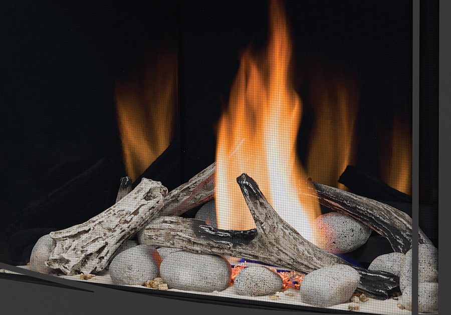 Napoleon ascent 36 gas fireplace b36 shore fire and beach fire kits with glass media removed asfbconference2016 Image collections