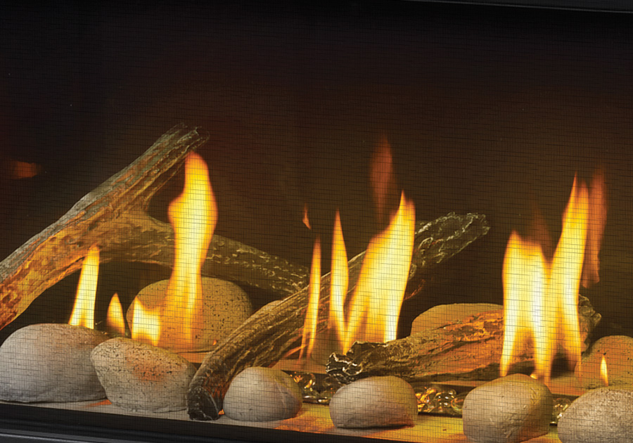 MIRRO-FLAME<sup>™</sup> Porcelain Reflective Radiant Panels, Clear Glass Beads, Beach Fire Kit and Shore Fire Kit excluding Topaz Glass and Vemiculite