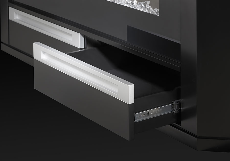 Silver Accented Drawers
