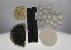 Shore Fire Kit, comes with a variety of Rock, Sand, Vermiculite, Glass and Rock Tray