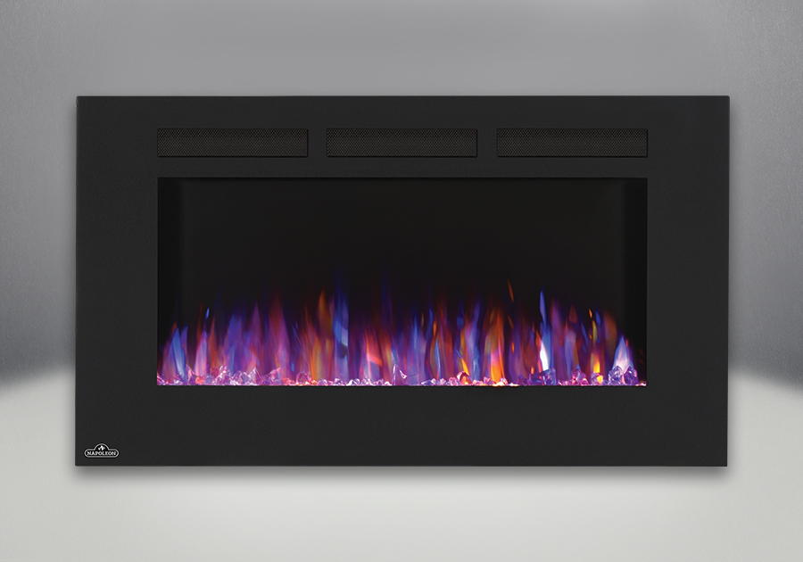 The Napoleon Allure 42 Electric Fireplace puts out an incredible 5