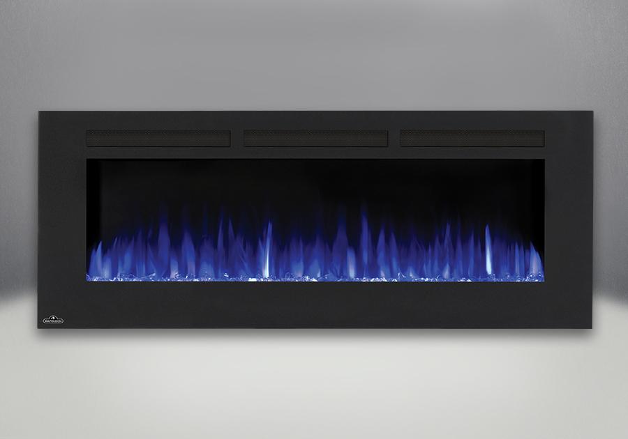 Flames set on blue