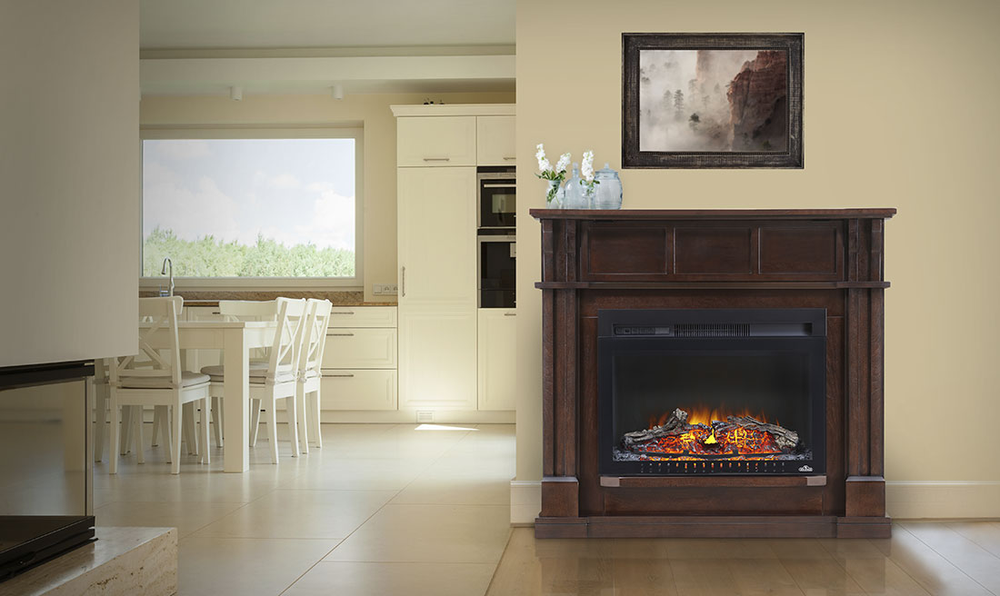 Complete with a beautiful Cinema 24 Electric Fireplace