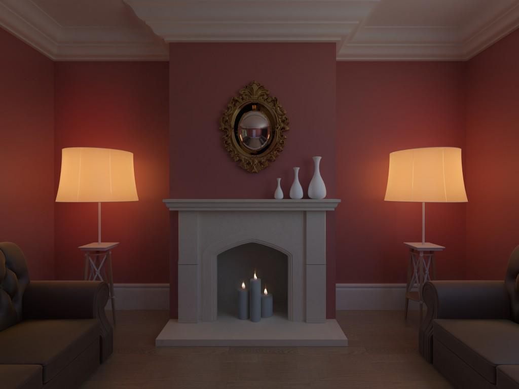 Fake Fireplace Room