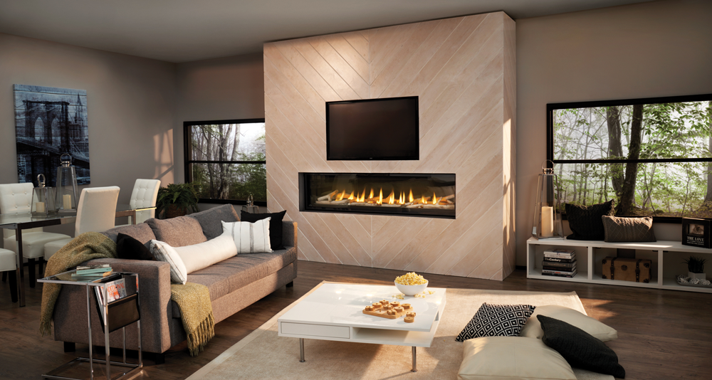 Luxuria 74 Modern Gas Fireplace