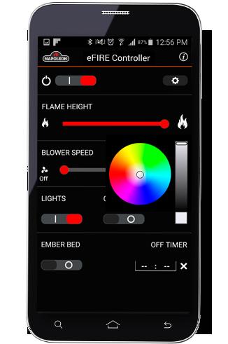 The Napoleon eFIRE Controller App